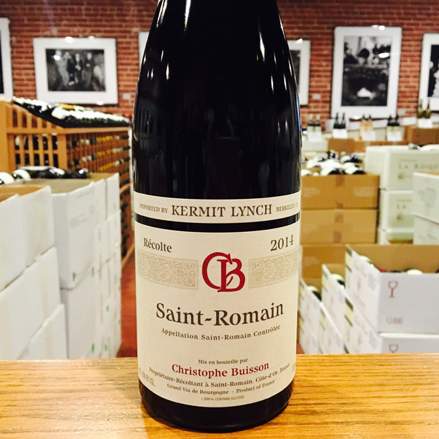 2014 Saint-Romain <i>Rouge</i> Christophe Buisson