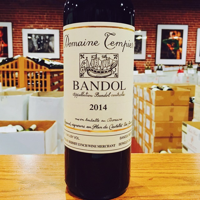2014 Bandol <i>Rouge</i> Domaine Tempier - Kermit Lynch Wine Merchant