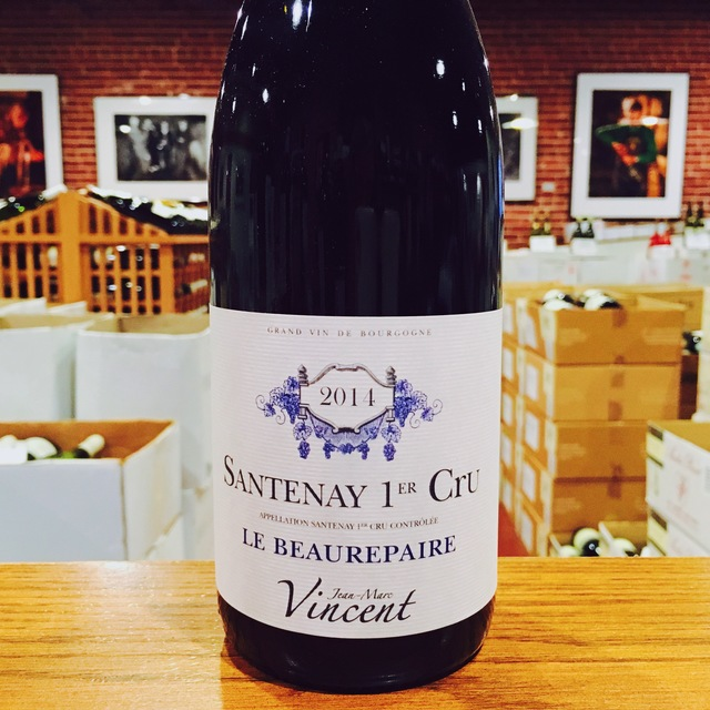 "2014 Santenay <i>Rouge 1er Cru</i> ""Le Beaurepaire"" Jean-Marc Vincent - Kermit Lynch Wine Merchant"