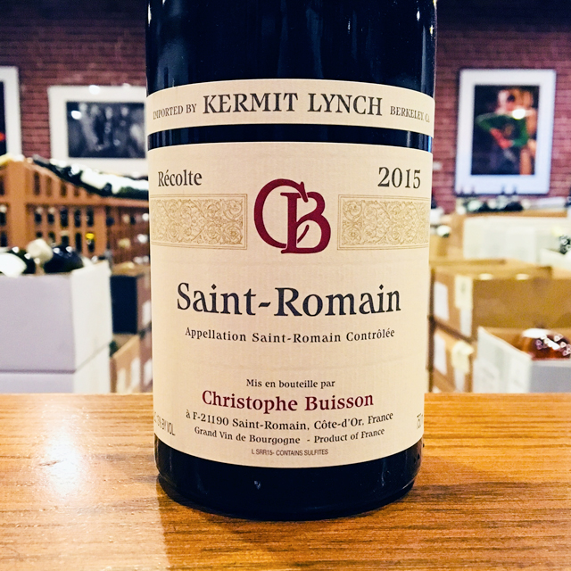 2015 Saint-Romain <i>Rouge</i> Christophe Buisson
