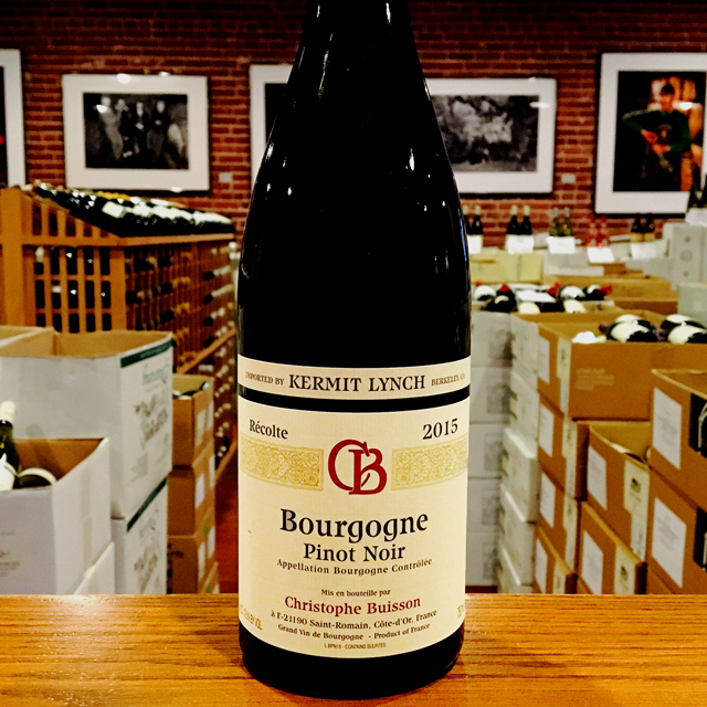 2015 Bourgogne <i>Rouge</i> Christophe Buisson - Kermit Lynch Wine Merchant