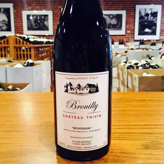 "2015 Brouilly ""Reverdon"" Château Thivin - Kermit Lynch Wine Merchant"