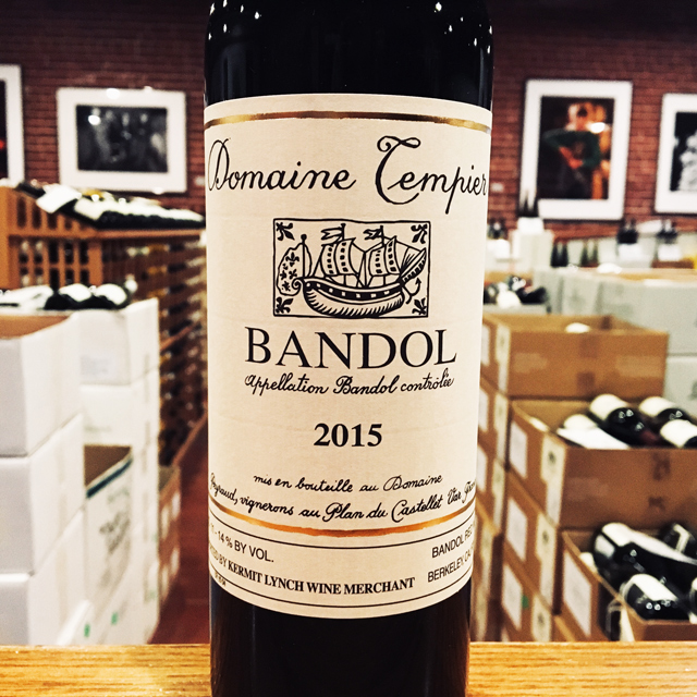 2015 Bandol <i>Rouge</i> Domaine Tempier - Kermit Lynch Wine Merchant