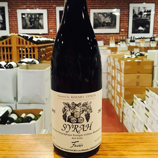 2015 Collines Rhodaniennes Syrah Domaine Faury - Kermit Lynch Wine Merchant