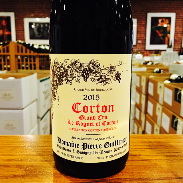 "2015 Corton Grand Cru ""Le Rognet et Corton"" Domaine Pierre Guillemot - Kermit Lynch Wine Merchant"