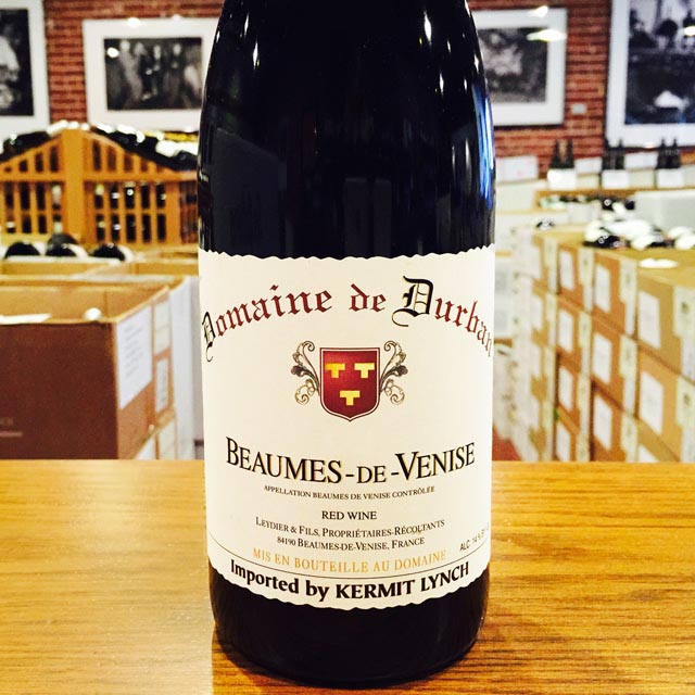 2015 Beaumes-de-Venise <i>Rouge</i> Domaine de Durban - Kermit Lynch Wine Merchant