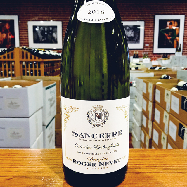 "2016 Sancerre ""Côte des Embouffants"" Domaine Roger Neveu - Kermit Lynch Wine Merchant"
