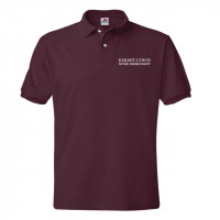 Burgundy Kermit Lynch Polo Shirt Size Medium