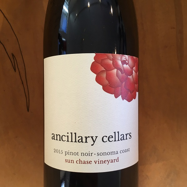Ancillary 'Sun Chase Vineyard' Pinot Noir 2015 Petaluma Gap - K. Laz Wine Collection