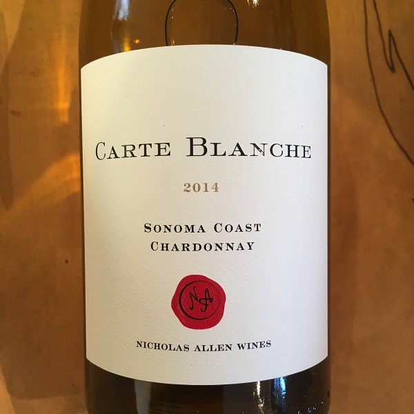 Carte Blanche  'Sonoma Coast' Chardonnay 2014  - K. Laz Wine Collection