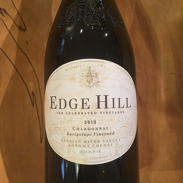 Edge Hill Bacigalupi Vineyard Chardonnay 2013 Russian River Valley  - K. Laz Wine Collection