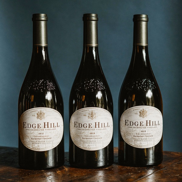 EDGE HILL WINERY 3-BOTTLE VERTICAL GIFT SET  - K. Laz Wine Collection