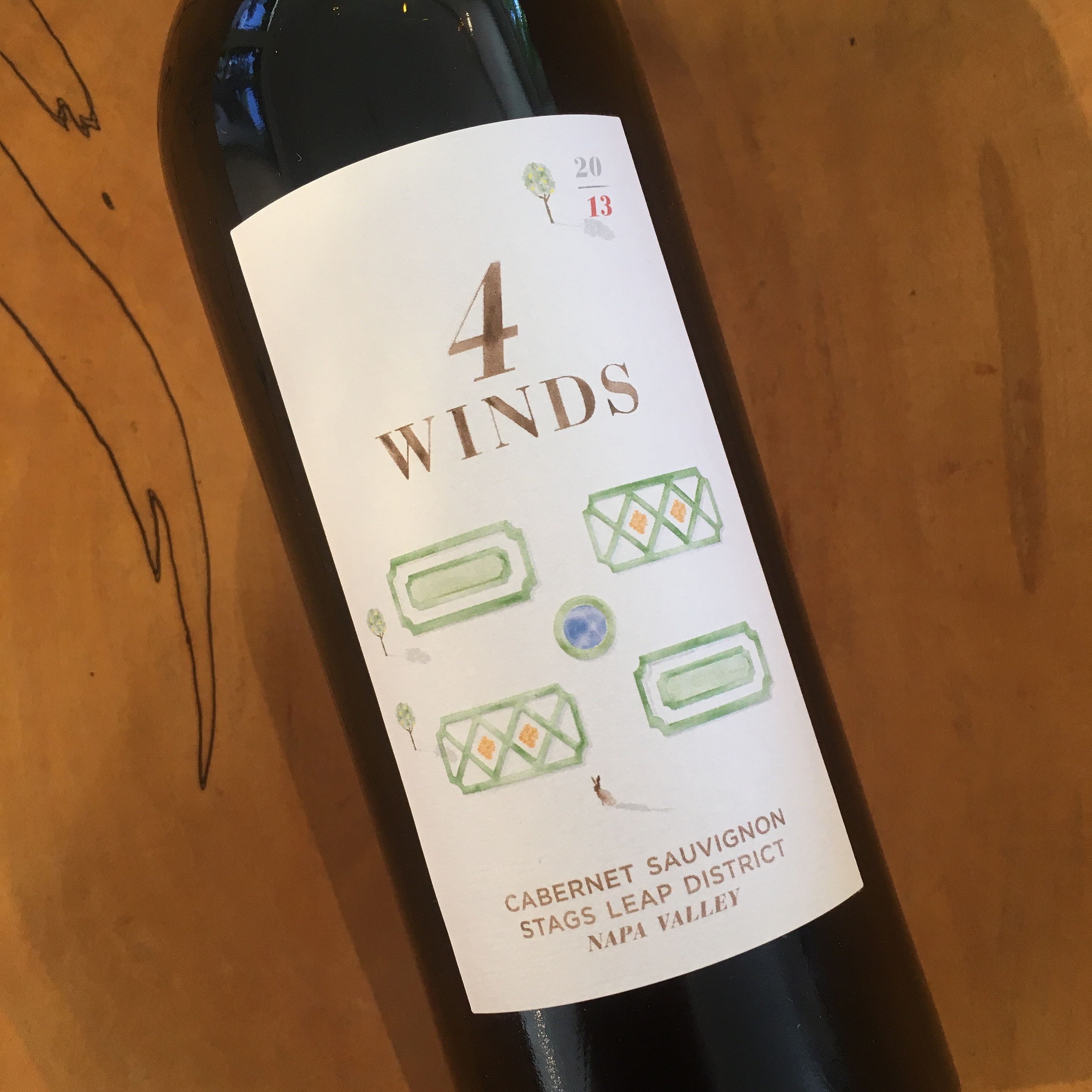 4 Winds Cabernet Sauvignon 2013 Stags Leap District - K. Laz Wine Collection