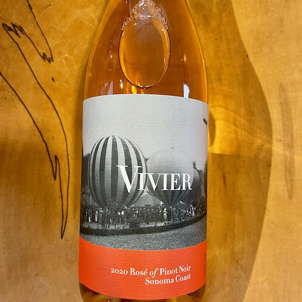 Vivier Sonoma Coast Rosé 2020- Special Priced 3-Pack - K. Laz Wine Collection