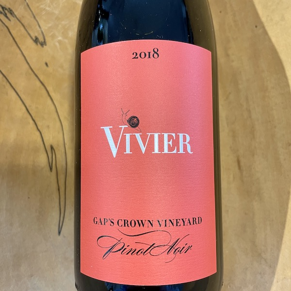 Vivier Gap's Crown Vineyard Pinot Noir 2018- Special Priced 3-Pack - K. Laz Wine Collection