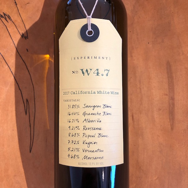 Ovid Experiment W4.7 White 2017  - K. Laz Wine Collection