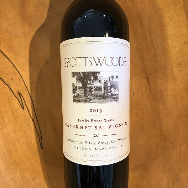 Spottswoode Estate  Cabernet Sauvignon 2015 - K. Laz Wine Collection