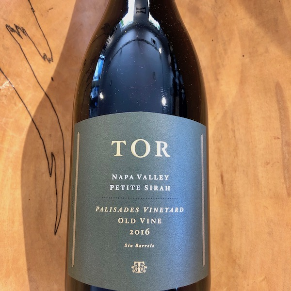 TOR Old Vines Palisades Vineyard Petite Sirah 2016 - K. Laz Wine Collection