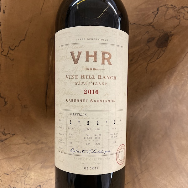 VHR - Vine Hill Ranch Cabernet Sauvignon 2016 - K. Laz Wine Collection
