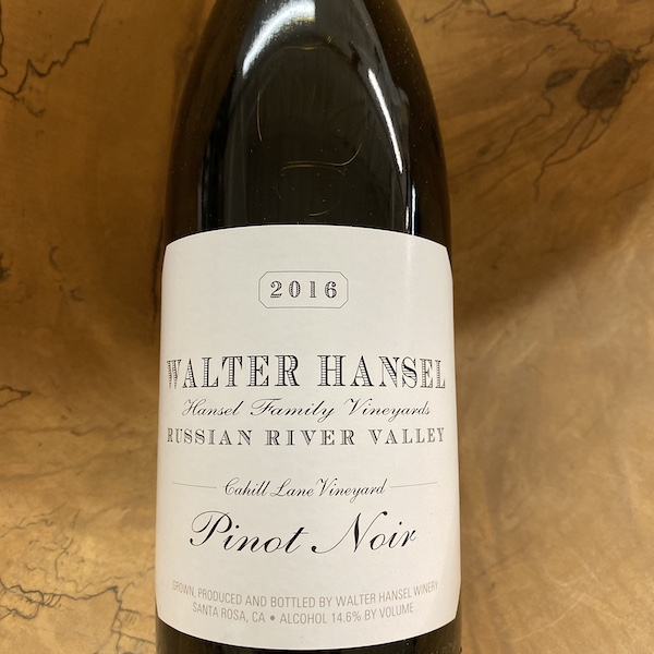 Walter Hansel 'Cahill Lane' Russian River Valley Pinot Noir 2016 - K. Laz Wine Collection