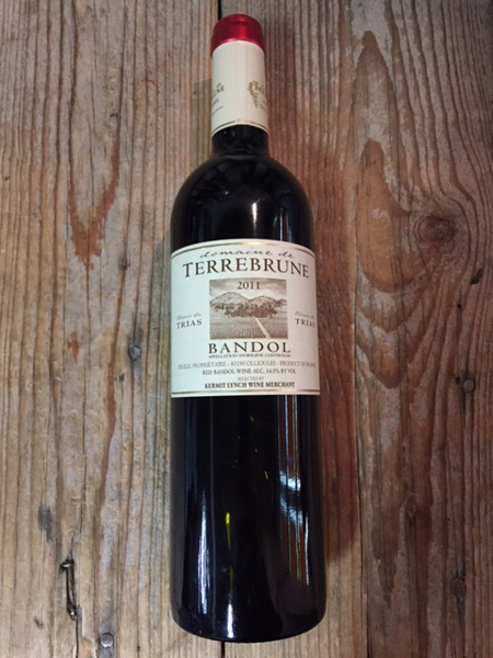 Terrebrune Bandol Rouge 2011  - Les Marchands Restaurant & Wine Shop