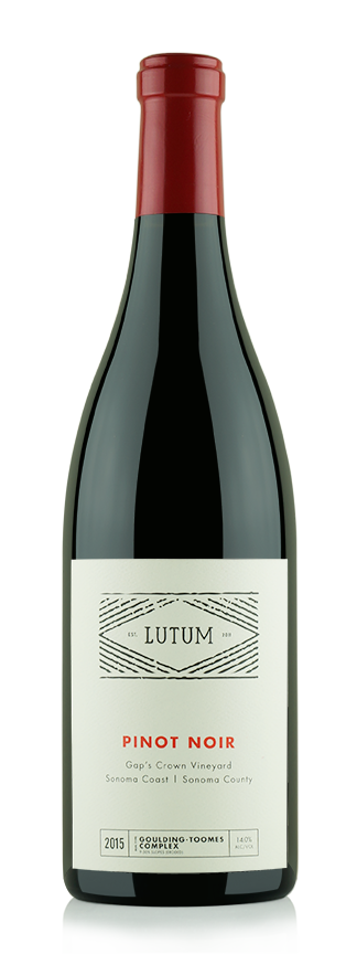 2015 Gap's Crown Vineyard Pinot Noir  - Lutum Wines