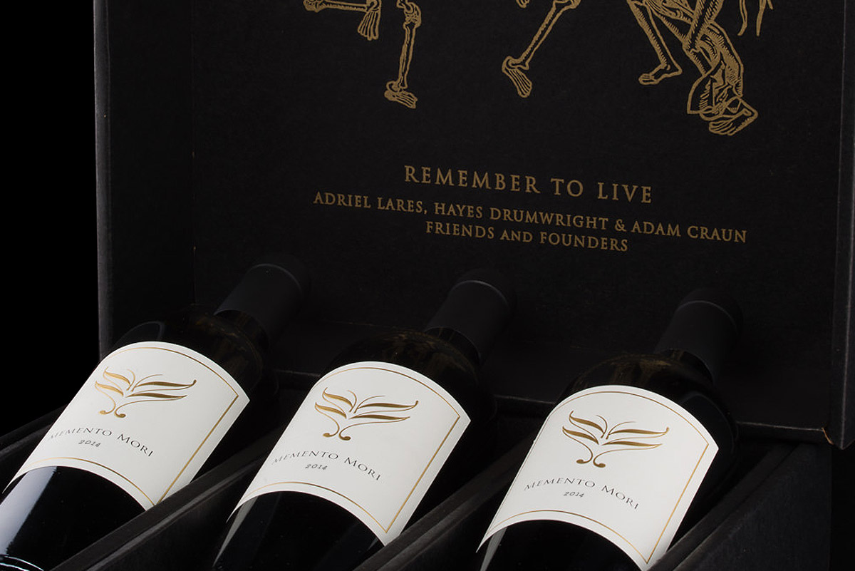 2014 Memento Mori Cabernet Sauvignon 3-Bottle Set in Black Gift Box  - Memento Mori