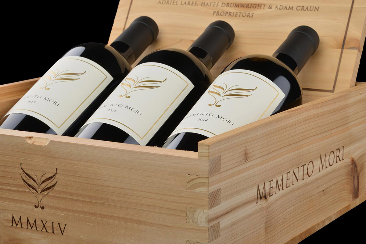2014 Memento Mori Cabernet Sauvignon 3-Bottle Set in Wood Box  - Memento Mori