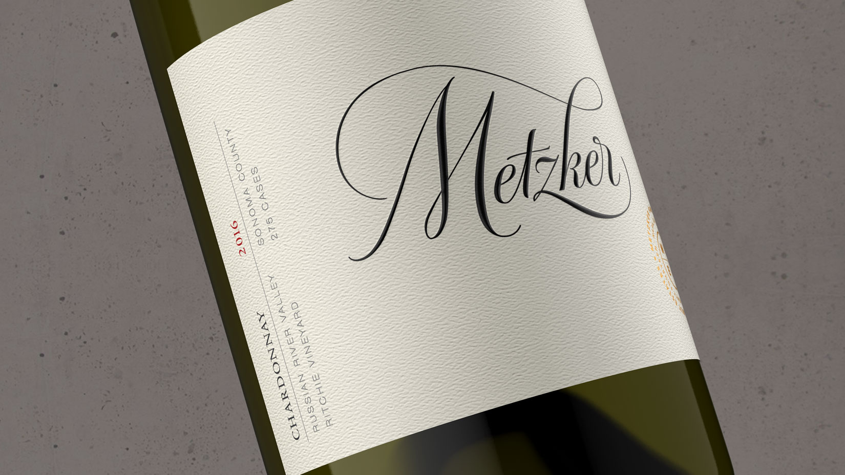 2016 Metzker Family Estates Chardonnay  Ritchie Vineyard - Metzker Family Estates Wines