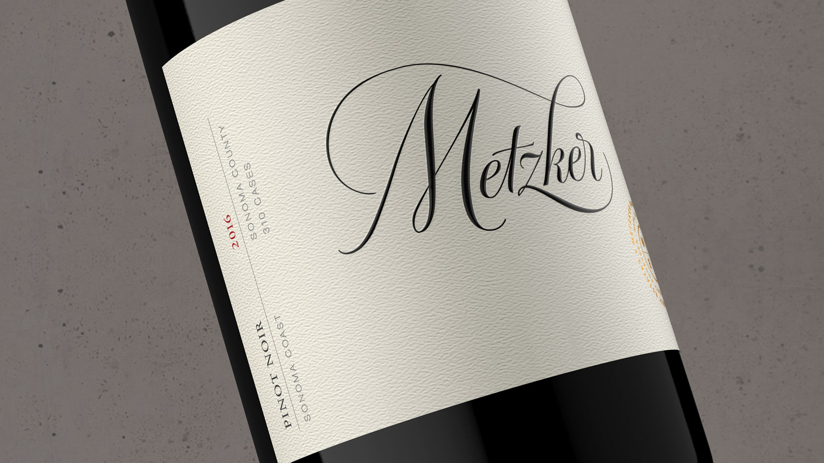 2016 Metzker Family Estates Pinot Noir Sonoma Coast - Metzker Family Estates Wines