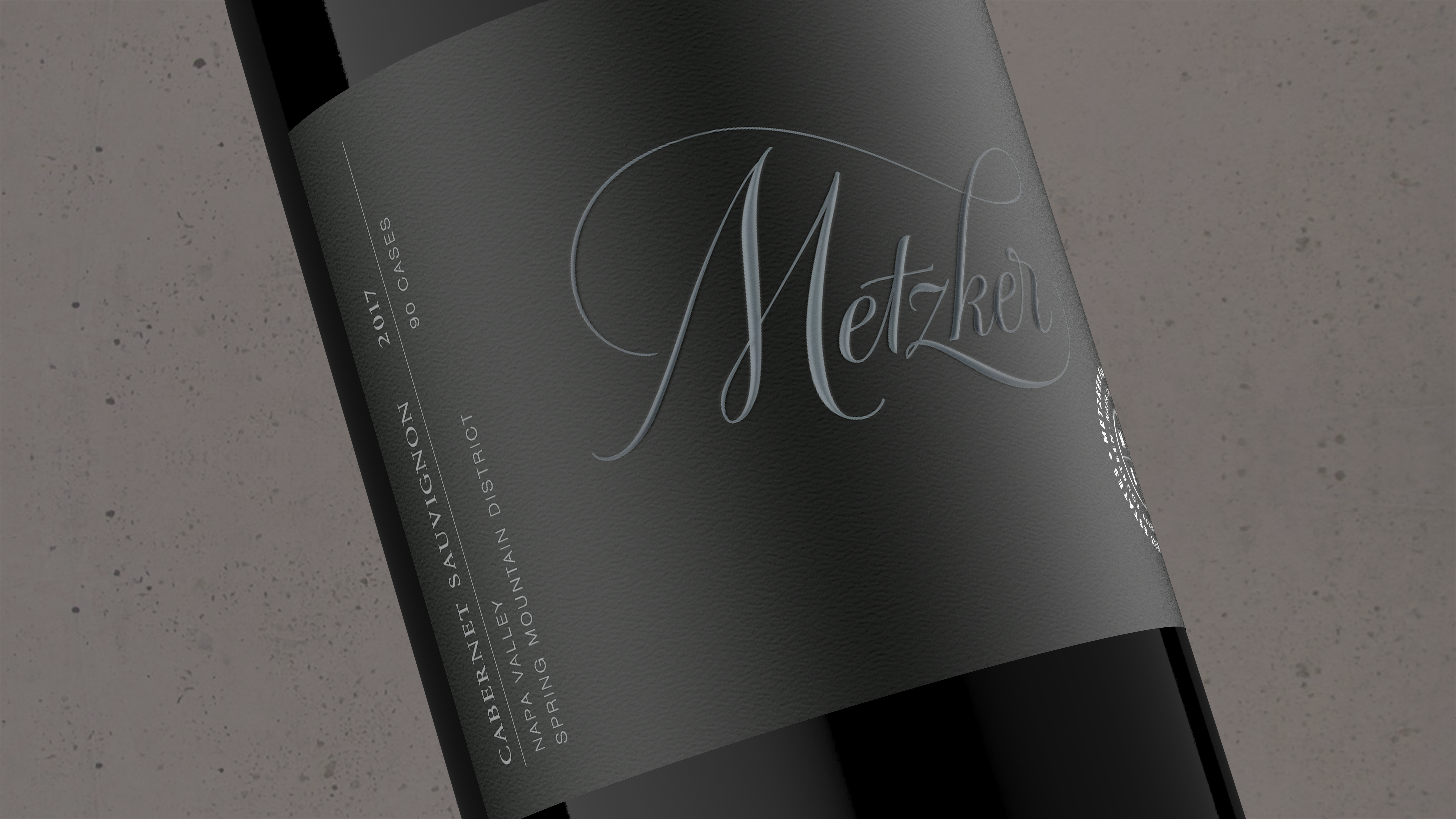 2017 Metzker Family Estates Cabernet Sauvignon Spring Mountain - Metzker Family Estates Wines