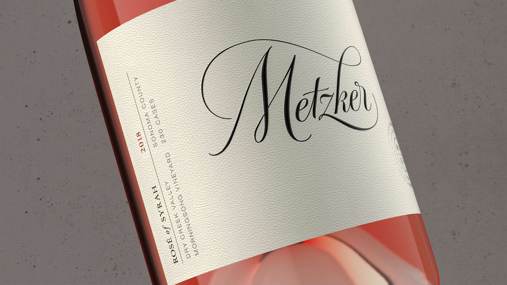 2018 Metzker Family Estates Rosé of Syrah  Morningsong Vineyard - Metzker Family Estates Wines