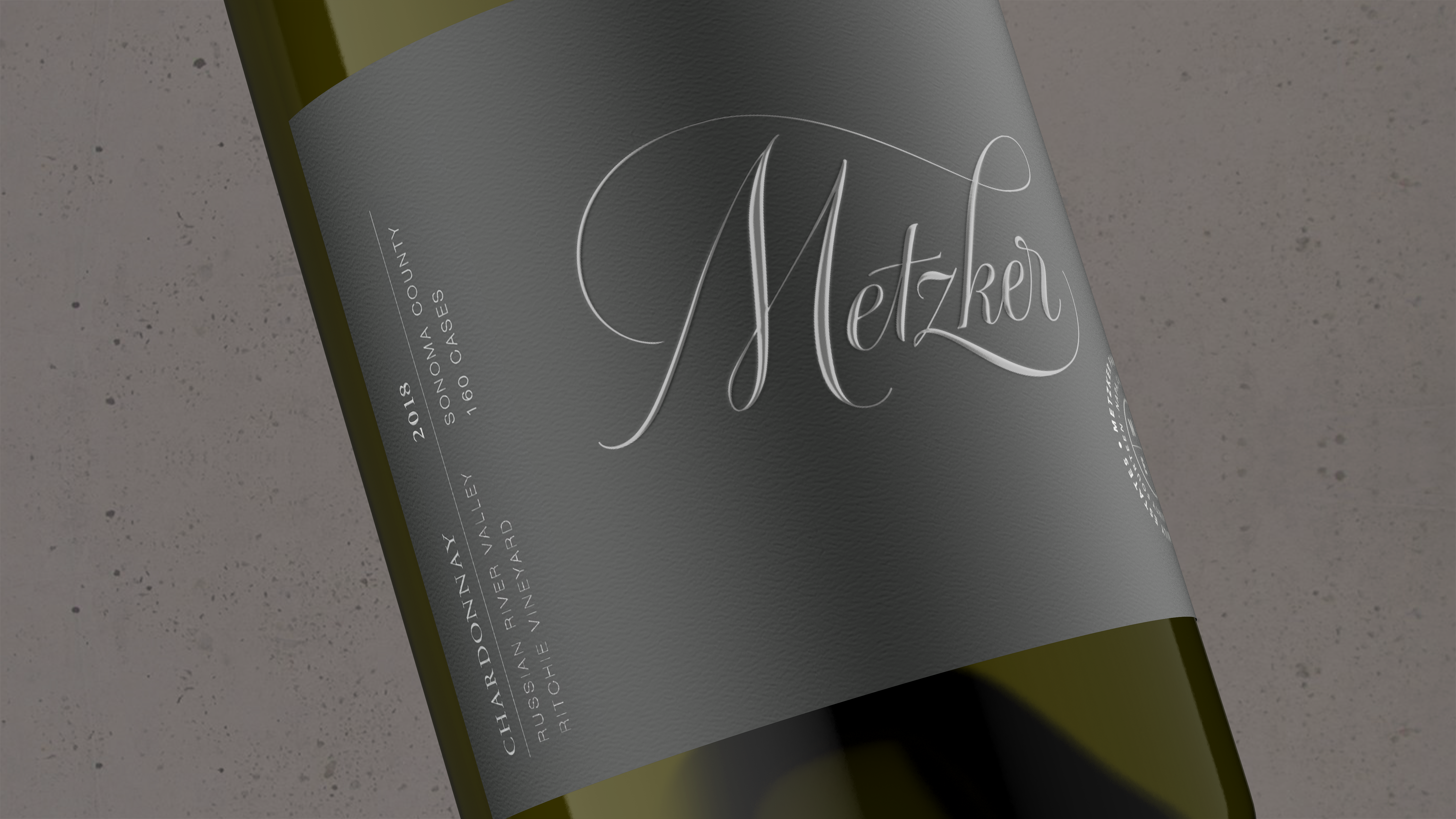2018 Metzker Family Estates Chardonnay Ritchie Vineyard - Metzker Family Estates Wines