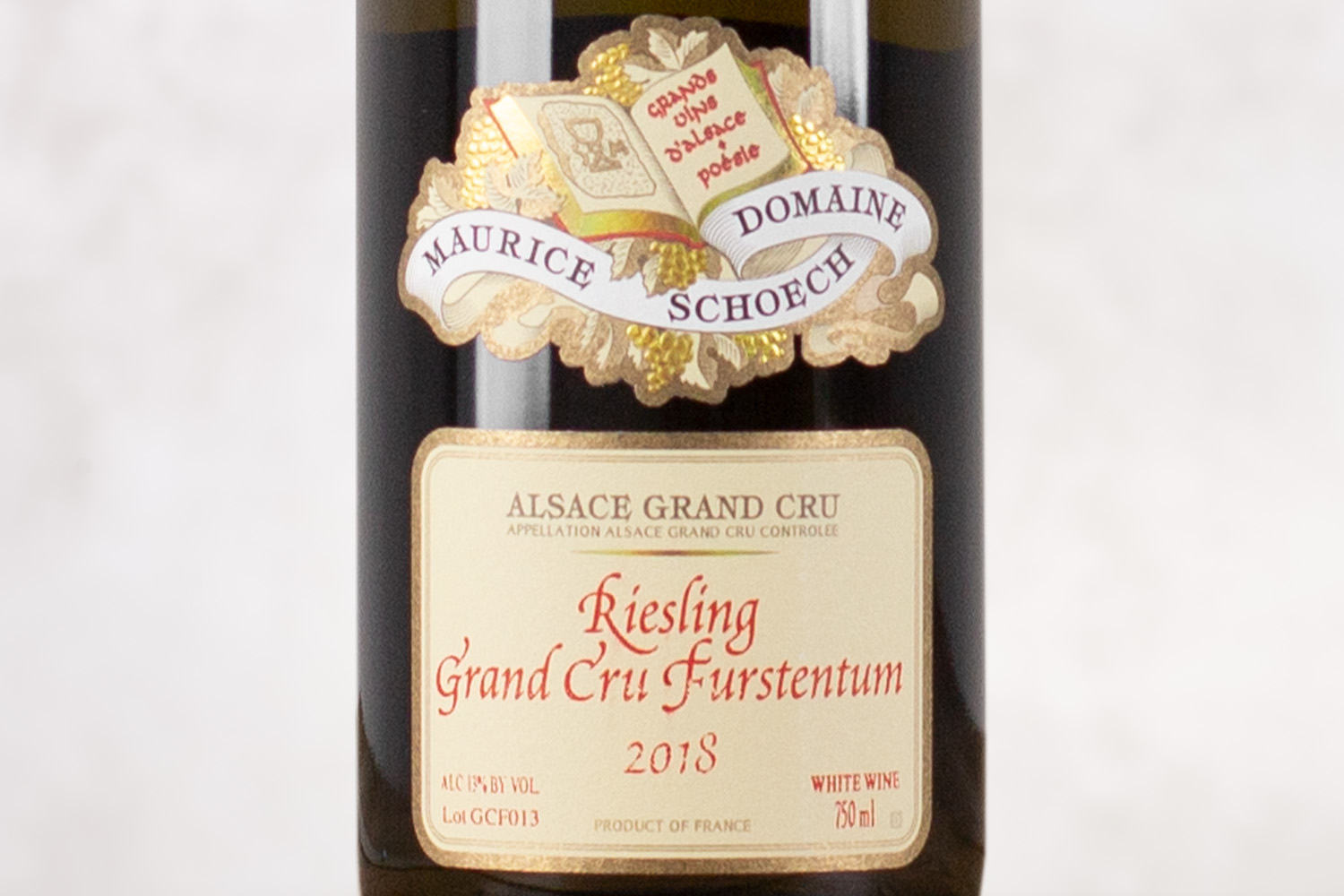 "Domaine Maurice Schoech, ""Furstentum"" Riesling Grand Cru Alsace, France 2018 - SommSelect"