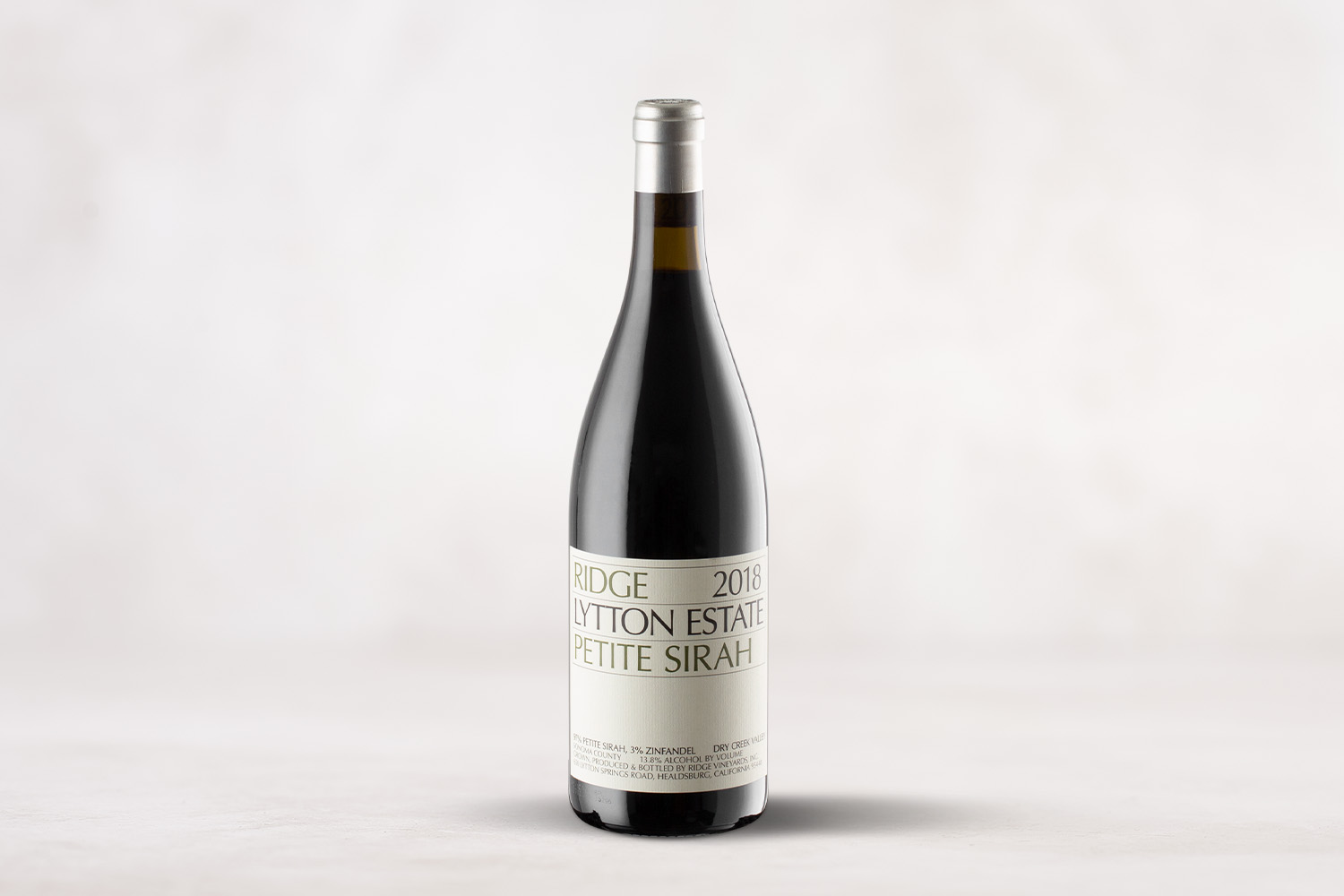 "Ridge Vineyards ""Lytton Estate"", Petite Sirah Dry Creek Valley, Sonoma County, California 2018 - SommSelect"