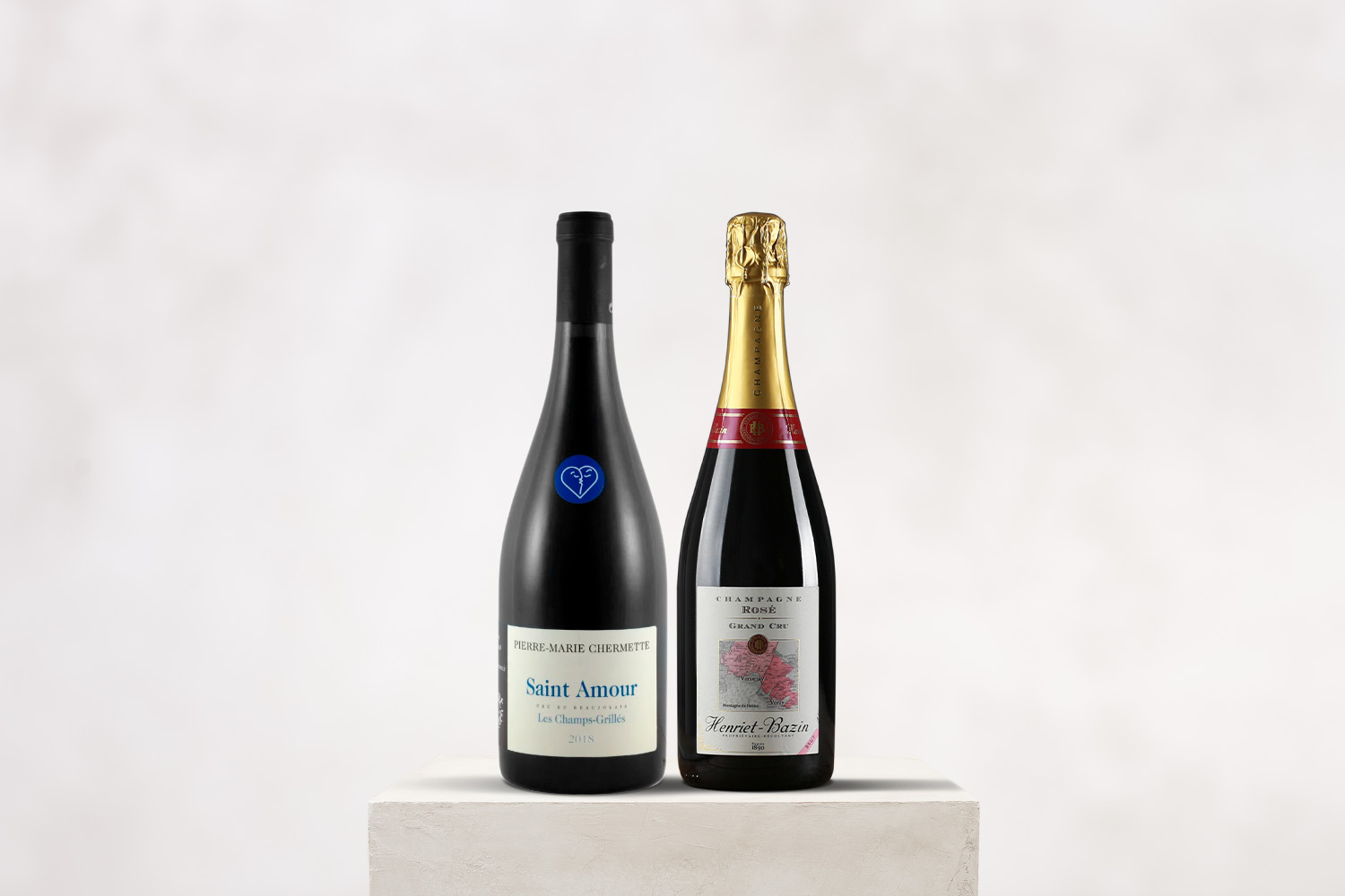 Valentine's Day Two-Pack Special Rosé Champagne & Saint-Amour - SommSelect