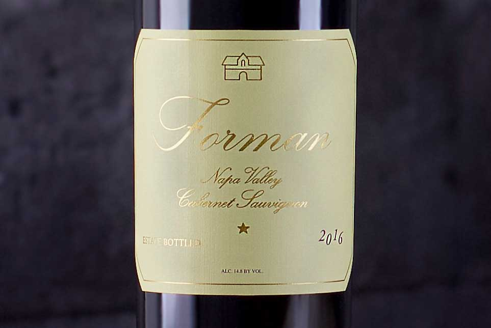 Forman, Cabernet Sauvignon Napa Valley, California 2016 - SommSelect