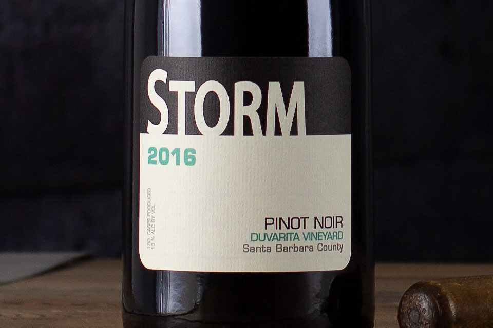 "Storm Wines, ""Duvarita Vineyard"" Pinot Noir Santa Barbara County, California 2016 - SommSelect"