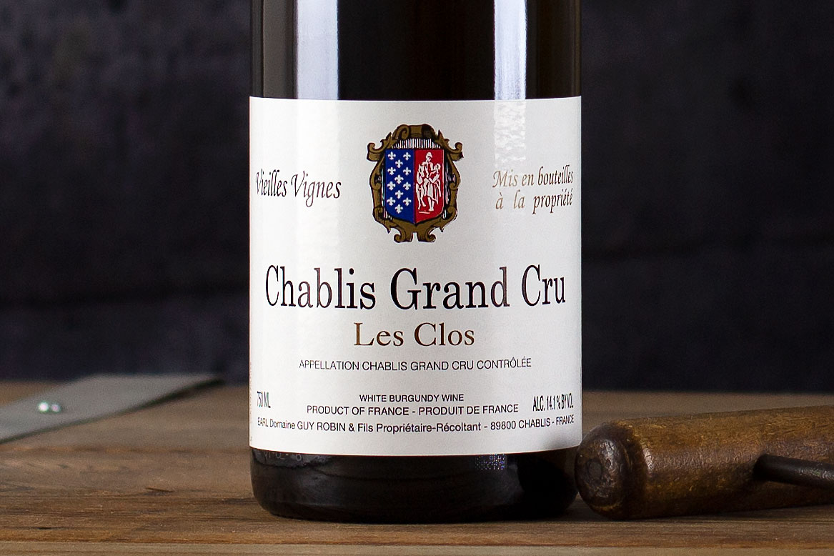 "Guy Robin, Chablis Grand Cru ""Les Clos"" Burgundy, France 2018 - SommSelect"