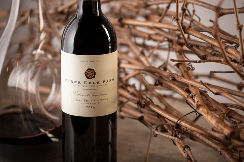 2014 Stone Edge Farm, Stone Edge Vineyard, Cabernet Sauvignon, 750ml Sonoma Valley - Stone Edge Farm Estate Vineyards & Winery