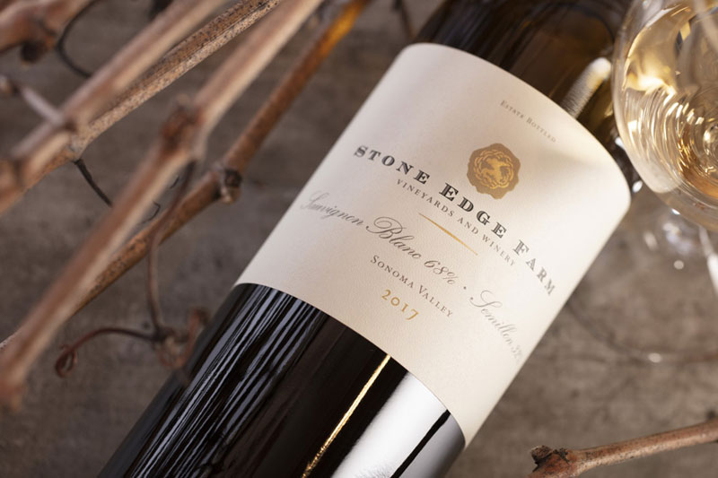 2017 Stone Edge Farm Sauvignon Blanc, 750ml Sonoma Valley - Stone Edge Farm Estate Vineyards & Winery