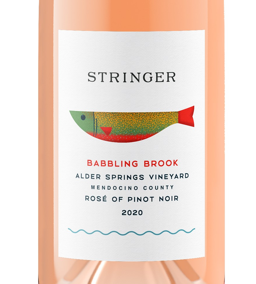 Babbling Brooke Rosé of Pinot Noir Alder Springs Vineyard 2020 Mendocino County - Stringer Cellars
