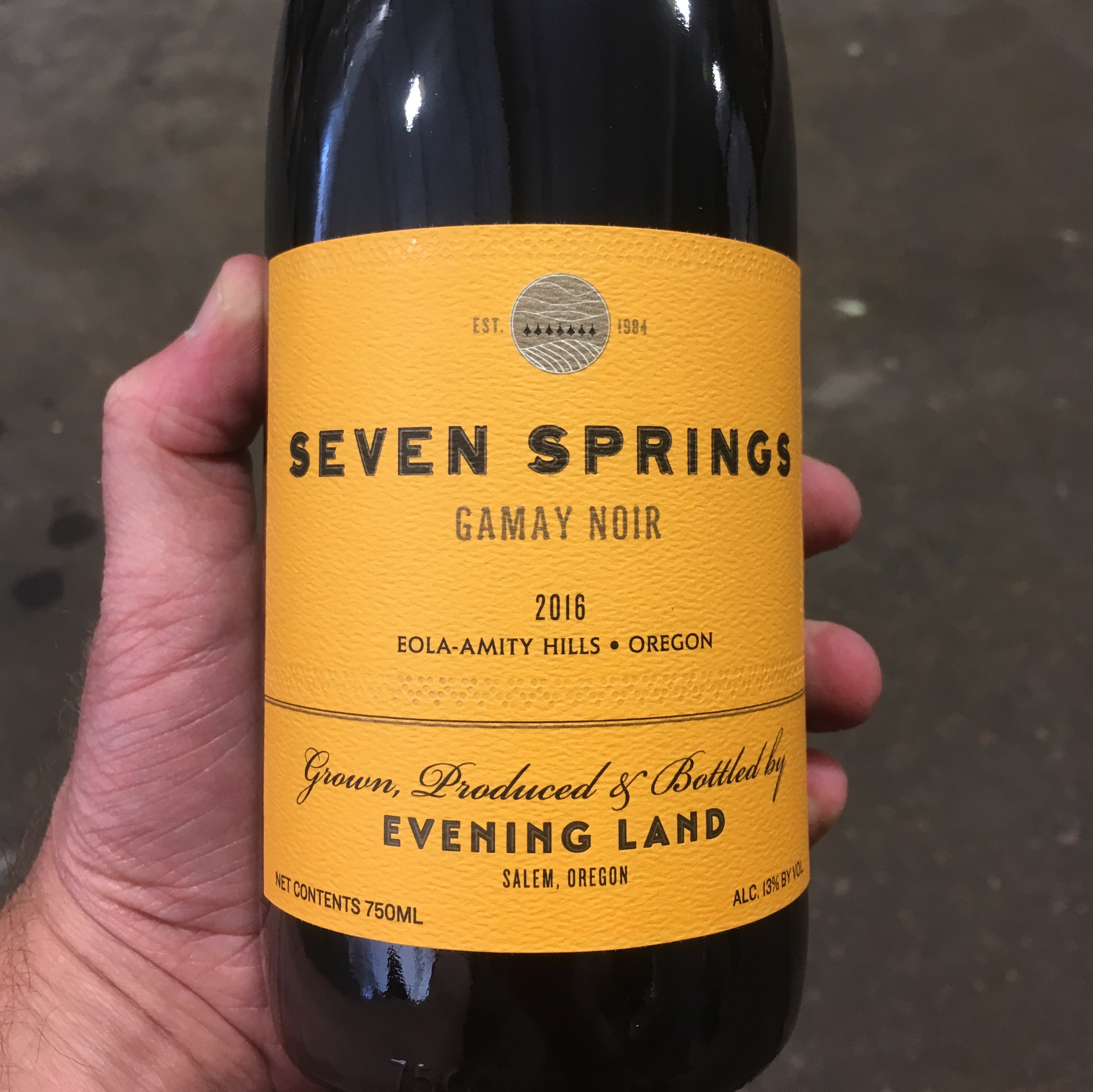 2016 Evening Land Vineyards Gamay Noir - Viticole