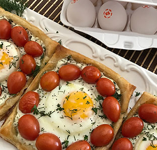 Egg-cellent Tomato & Herbed Goat Cheese Tart