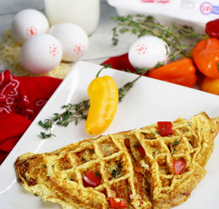 Waffle Thyme Omelette
