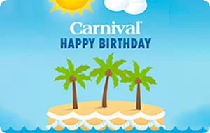 Carnival Happy Birthday Gift Card