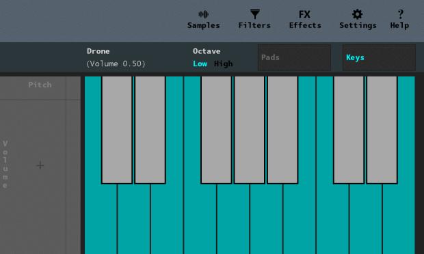 Sampler in keyboard mode