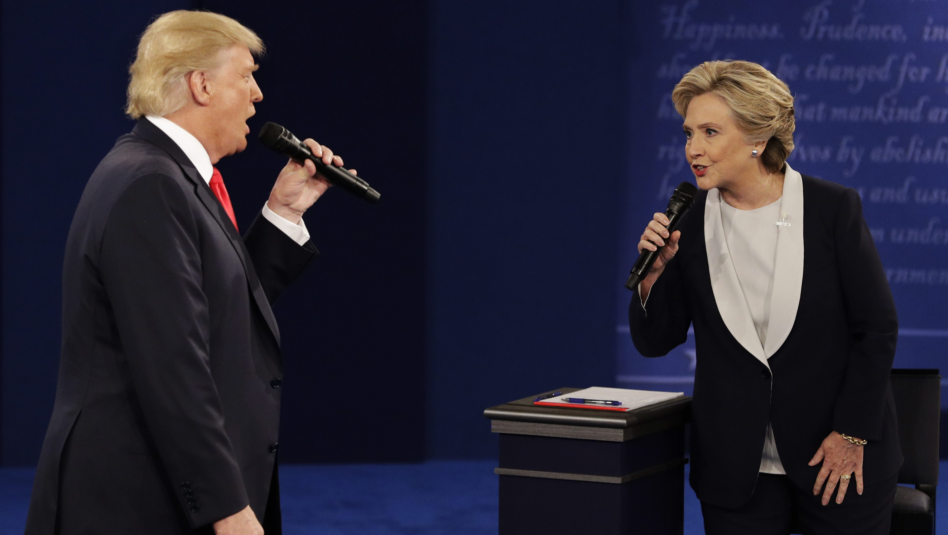 Hilary Clinton and Donald Trump Presidential Debate
