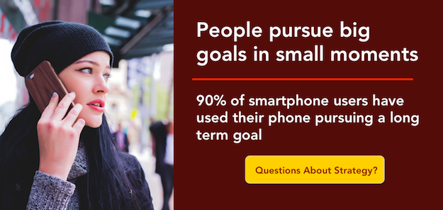People pursue big goals in small moments