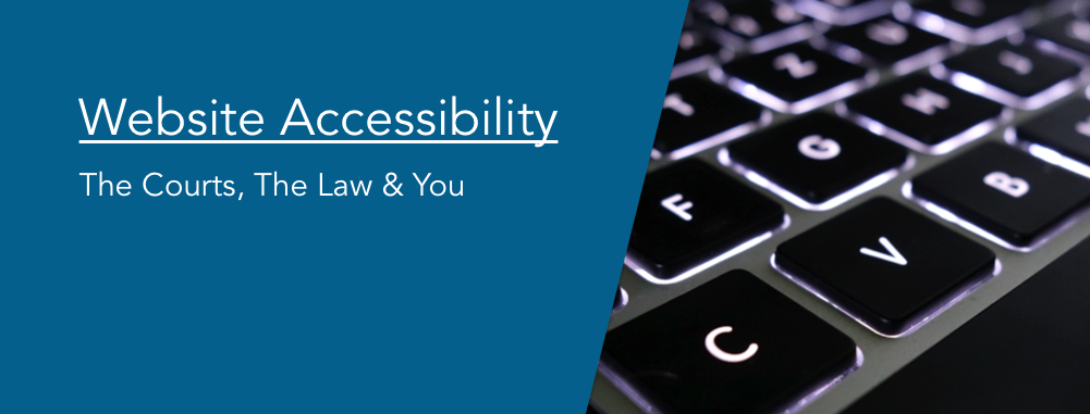 Website Accessibility: The Courts, The Law & You